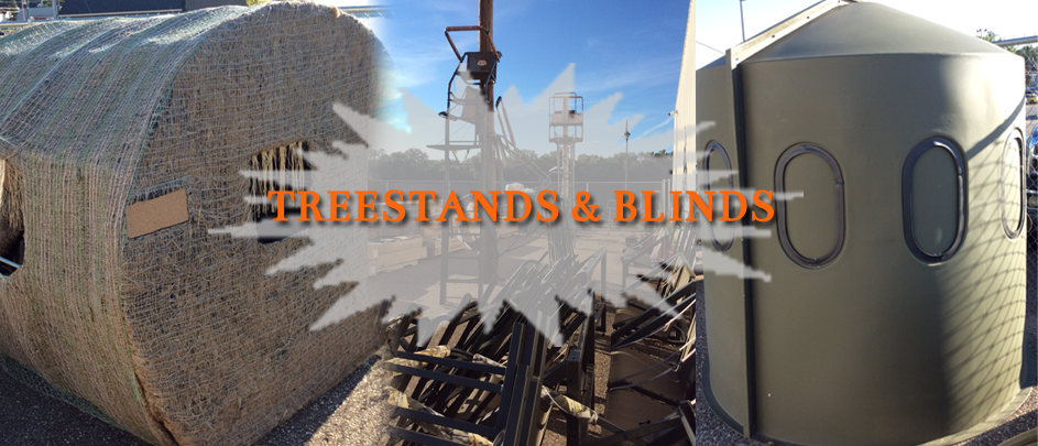 Treestands and blinds slide